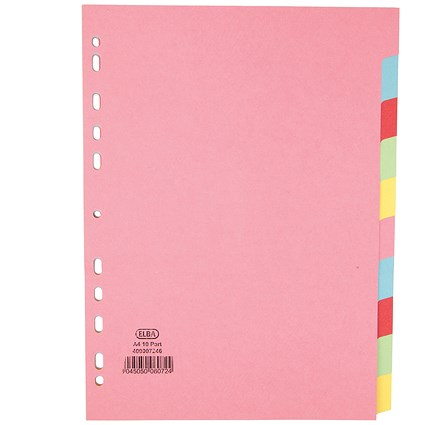 Elba Subject Dividers / 10-Part / A4 / Assorted