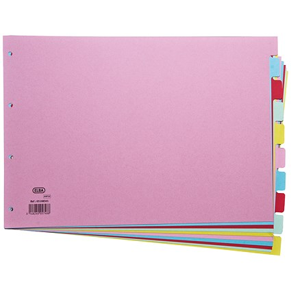 Elba Subject Dividers / 10-Part / A3 / Assorted