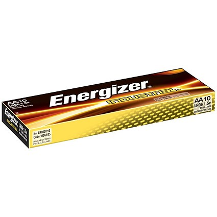 Energizer Industrial Long Life Battery / LR6 / 1.5V / AA / Pack of 10