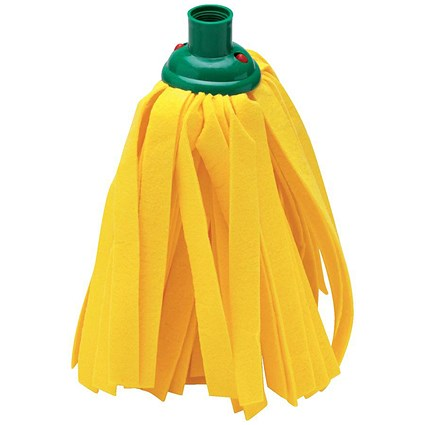 Addis Cloth Mop Head Refill, Thick Absorbent Strands, Green