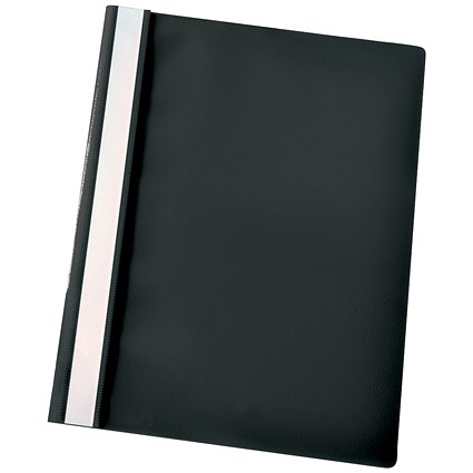 Esselte A4 Report Flat Files, Black, Pack of 25