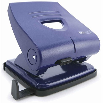 Rapesco 827P 2-Hole Punch / Blue / Punch capacity: 30 Sheets