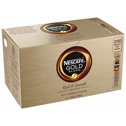 Nescafe Gold Blend Instant Coffee Granules / Stick Sachets / Pack of 200