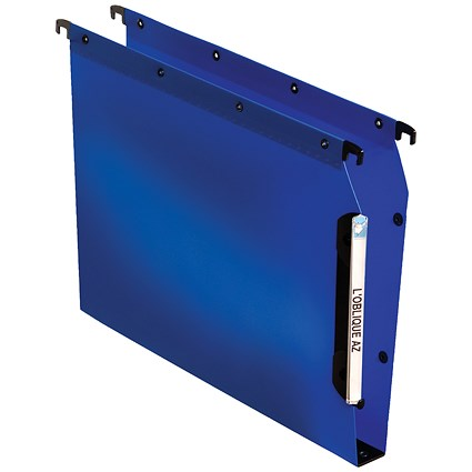 Elba Ultimate Lateral Files / Plastic / 330mm Width / 30mm Square Base / A4 / Blue / Pack of 25
