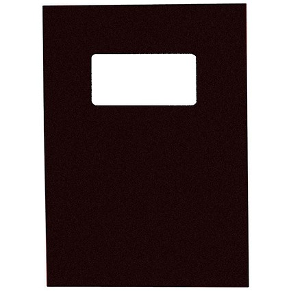 GBC Binding Covers with Window / 250gsm / Black / A4 / Leathergrain / Pack of 25 Pairs