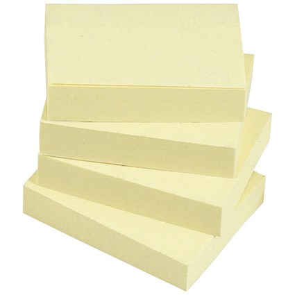 5 Star Sticky Notes, 38x51mm, Yellow, Pack of 12 x 100 Notes