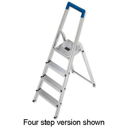 Folding Aluminium Ladder - 3 Non Slip Ribbed Steps