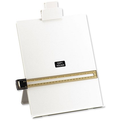 5 Star Desktop Copyholder with Line Guide Ruler / A4 / Grey