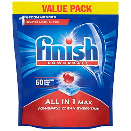Finish Dishwasher Powerball Tablets All In 1 - Pack of 53