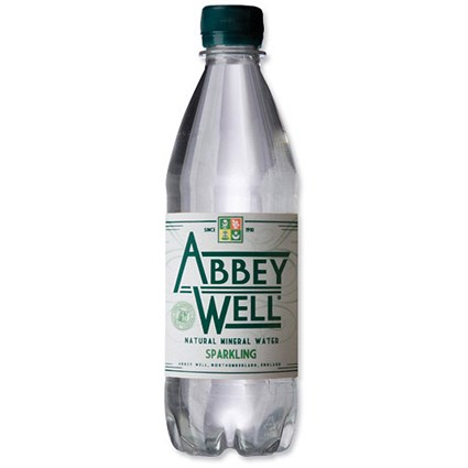 Abbey Well Sparkling Mineral Water - 24 x 500ml Plastic Bottles