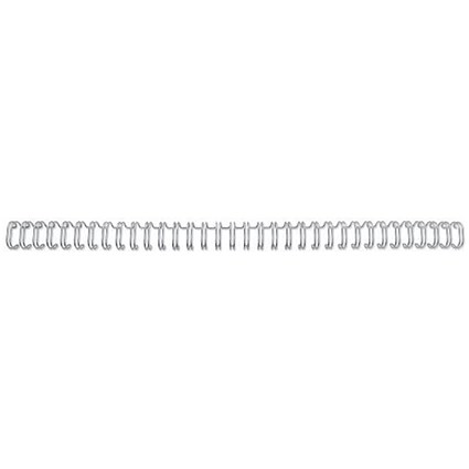 GBC Binding Wire Elements / 34 Loop / 5mm / Silver / Pack of 100