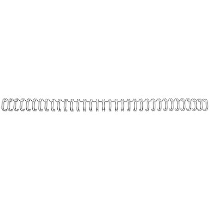 GBC Binding Wire Elements / 34 Loop / 8mm / Silver / Pack of 100