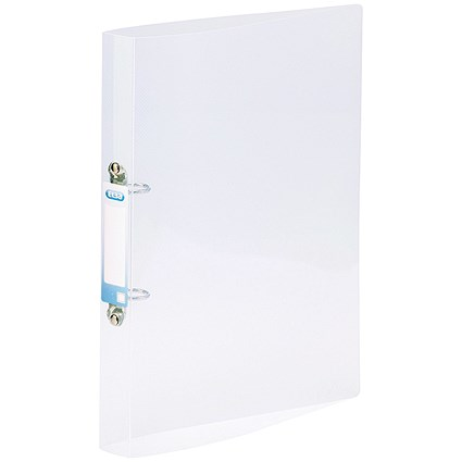 Elba Snap Ring Binder, A4+, 2 O-Ring, 25mm Capacity, Clear, Pack of 10
