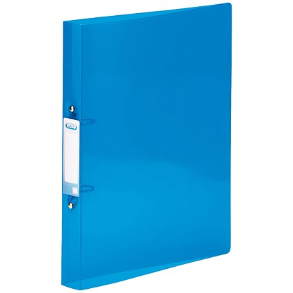 Elba Snap Ring Binder, A4+, 2 O-Ring, 25mm Capacity, Blue, Pack of 10