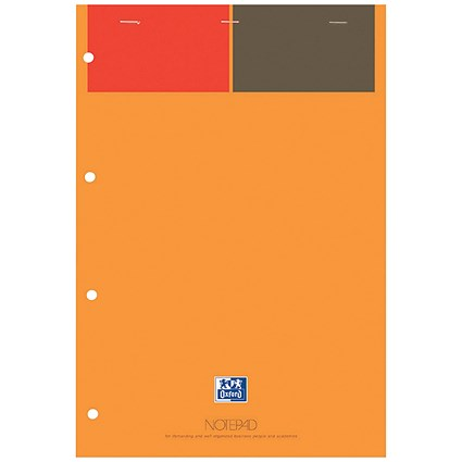 Oxford International Notepad, A4+, Narrow Ruled & Perforated, 160 Pages, Pack of 5