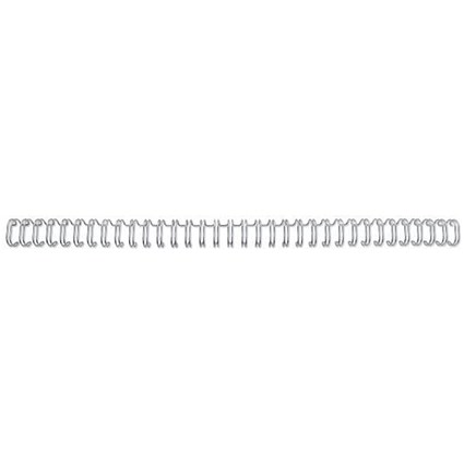 GBC Binding Wire Elements / 34 Loop / 11mm / Silver / Pack of 100