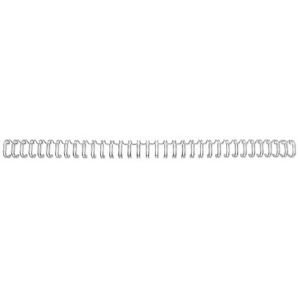 GBC Binding Wire Elements / 34 Loop / 12.5mm / Silver / Pack of 100