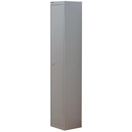 Bisley 1 Door Steel Locker / Depth 305mm / Grey