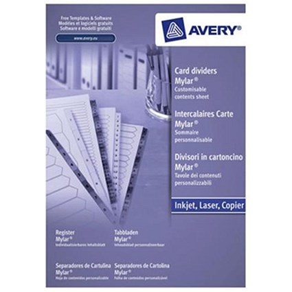 Avery Index Dividers / 1-15 / A4 / White