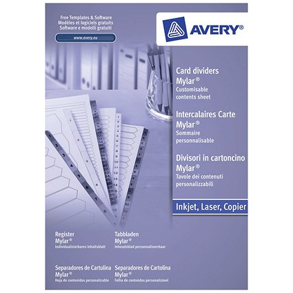 Avery Index Dividers, Jan-Dec, A4, White