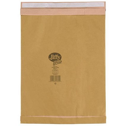 Jiffy Green No.7 Padded Bags / 341x483mm / Pack of 25