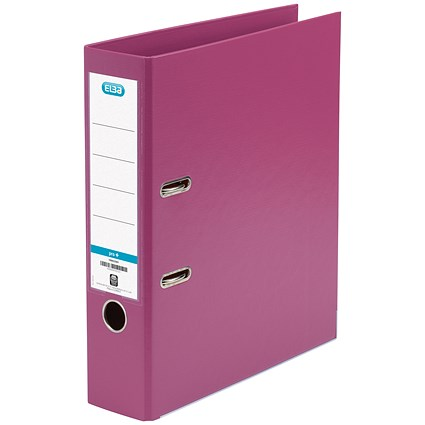 Elba A4 Lever Arch Files / PVC / Pink / Pack of 10