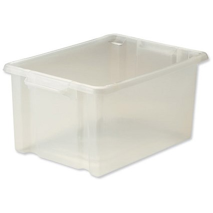 Strata Storemaster Maxi Crate, 32 Litre, Clear