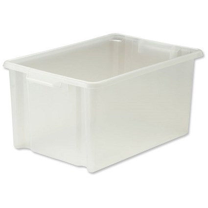 Strata Storemaster Jumbo Crate, 48.5 Litre, Clear