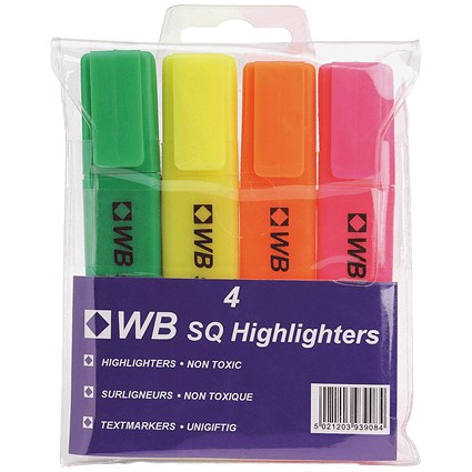 Everyday Highlighters / Assorted Colours / Pack of 4