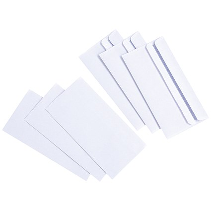 Everyday DL Wallet Envelopes / White / Press Seal / 80gsm / Pack of 1000