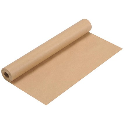 Kraft Wrapping Paper Roll / 70gsm / 500mmx25m / Brown