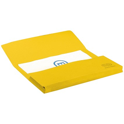 Elba StrongLine Document Wallets, 320gsm, Foolscap, Yellow, Pack of 25