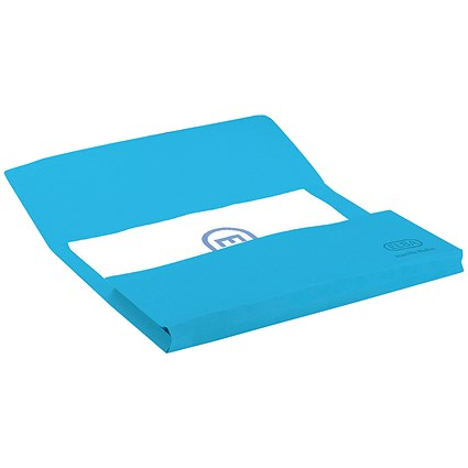 Elba StrongLine Document Wallets, 320gsm, Foolscap, Blue, Pack of 25