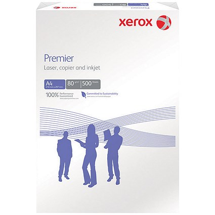 Xerox A4 Premier Multifunctional Copier Paper, White, 80gsm, Ream (500 Sheets)