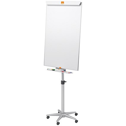 Nobo Classic Nano Clean Mobile Easel, Drywipe, Magnetic, Height-adjustable, W700xH1000mm