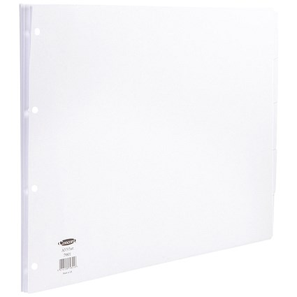 Concord Subject Dividers, 5-Part, A3, White