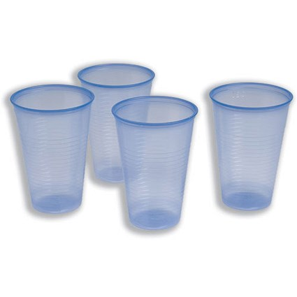 Plastic Non Vending Cups for Cold Drinks, 207ml, Blue, Pack of 1000