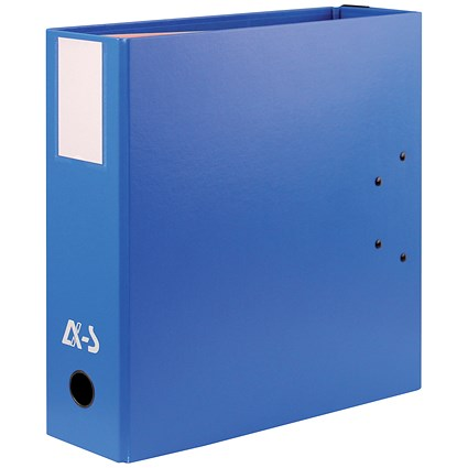 Arianex Double Capacity A4 Lever Arch File / 2x50mm Spines / Blue