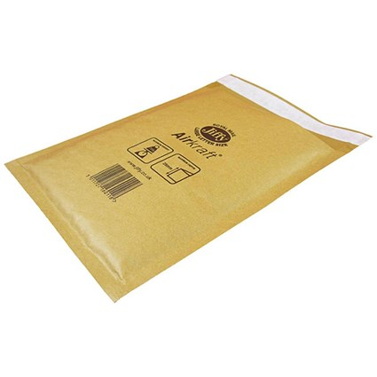 Jiffy Airkraft No.4 Bubble Bag Envelopes, 230x320mm, Gold, Pack of 50