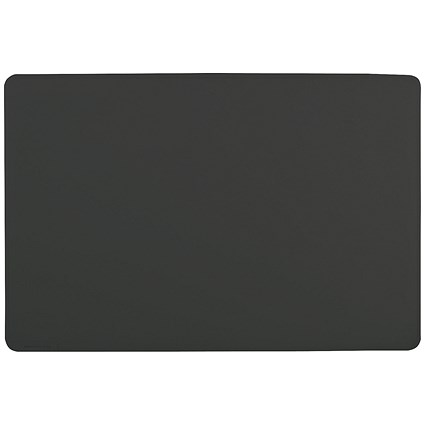Durable Desk Mat with Contoured Edge / W530xD400mm / Black