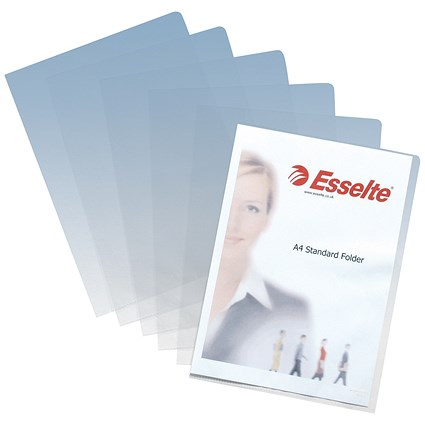 Esselte Cut Flush Folders / A4 / Clear / Pack of 100