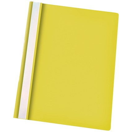 Esselte A4 Report Flat Files, Yellow, Pack of 25