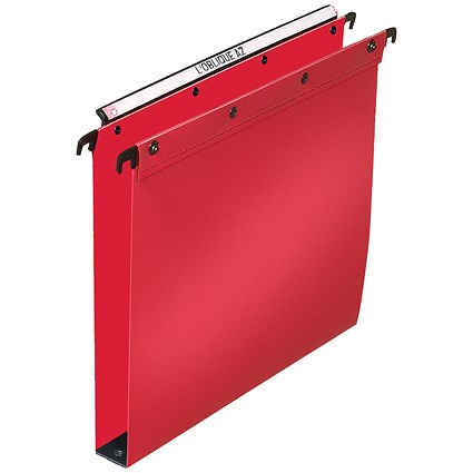 Elba Ultimate Suspension Files / Square Base / 30mm Capacity / Foolscap / Red / Pack of 25