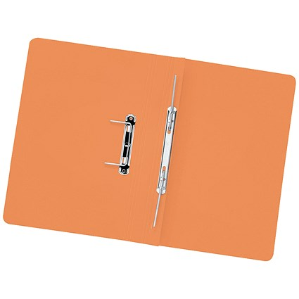 5 Star Transfer Files, 315gsm, Foolscap, Orange, Pack of 50