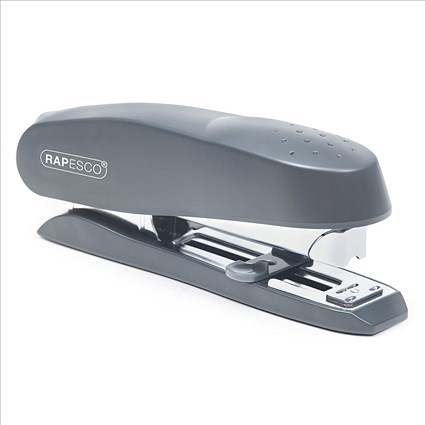 Rapesco Spinna 717 Full Strip Stapler with Paper Guide, Capacity: 50 Sheets, Grey