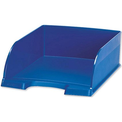 Leitz Jumbo Letter Tray / Deep-sided with 2 Label Positions / Blue