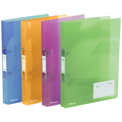 Rexel Ice Ring Binder / A4 / 25mm Capacity / Assorted / Pack of 10
