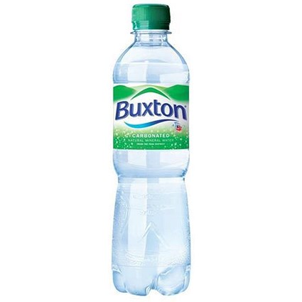 Buxton Natural Sparkling Mineral Water - 24 x 500ml Bottles