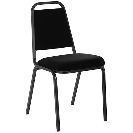 Trexus Visitor Banqueting Chair, Black Frame, Charcoal
