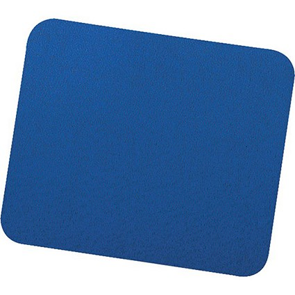 Fellowes Economy Mousepad / Rubber Sponge backing / Non-slip Base / Blue